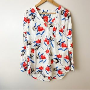 OLD NAVY Floral Long Sleeve Tunic Top